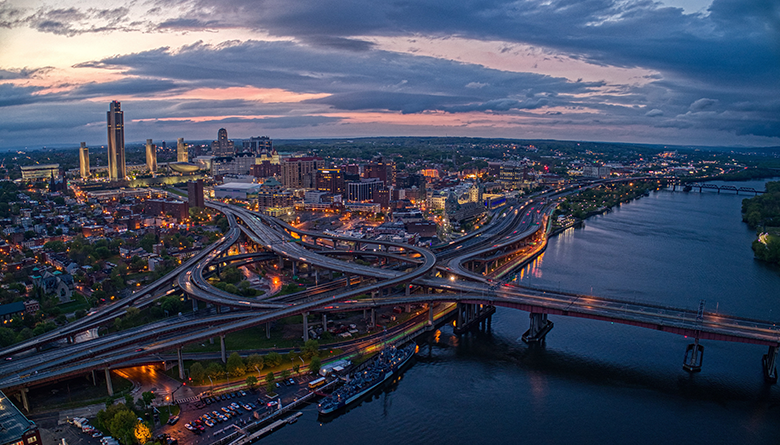 Panoramic view of Albany, New York