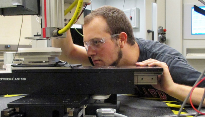 James Nowak works with manufacturing machinery