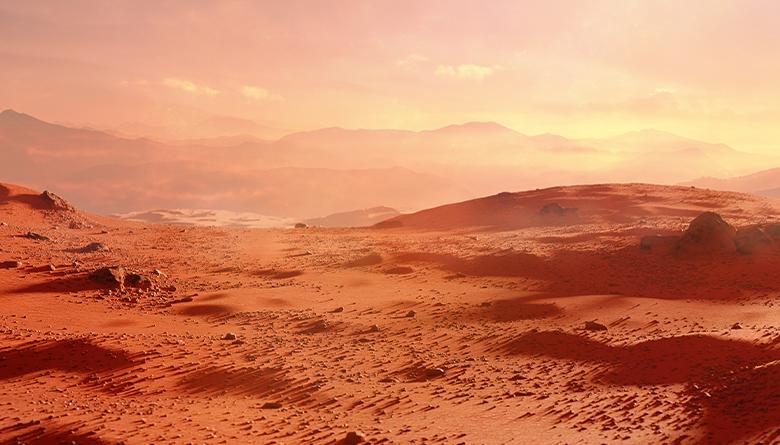 Landscape of the planet Mars